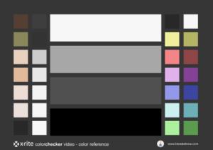 colorchecker video